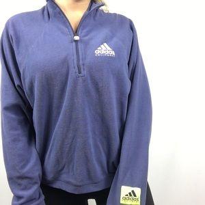 Adidas Equipment Fleece Crop Sweatshirt 1/4 Zip